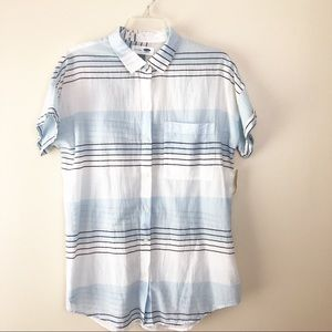 Old Navy Striped Boyfriend Top